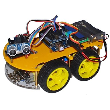 "Wholesale Bluetooth Controlled Robot Car Kits for Arduino (With 2.6"" 1602 LCD Display)"
