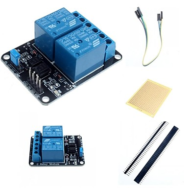 Wholesale 2 Channel Electric Relay Module Relay Expansion Board with Optocoupler and Accessories for Arduino