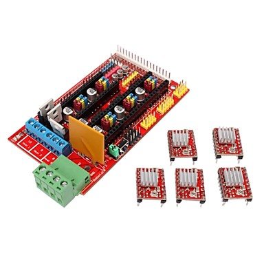 Wholesale 3D Printer Controller RAMPS 1.4 Shield Board + 5 x 4988 Stepper Drivers for 3D Printer