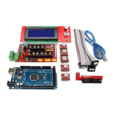 Wholesale 3D Printer Controller RAMPS 1.4 + Mega2560 R3 + 5 x A4988 + 2004LCD Controller Board for 3D Printer