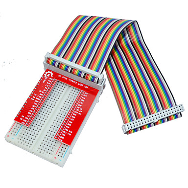 Wholesale Raspberry Pie 3 GPIO Extended DIY Kit (40P +GPIO V2+400 Rainbow Line Hole Bread Board)
