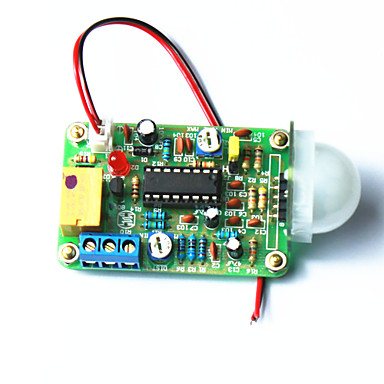 Wholesale Infrared Human Pyroelectric Sensor Switch Module w/ Distance Adjustable - Green