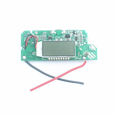"Wholesale FX-608-PCBA DIY 1.2"" LCD Dual-USB Output 5V Boost PCB Module w/ LED for Mobile Power - Silver + Blue"