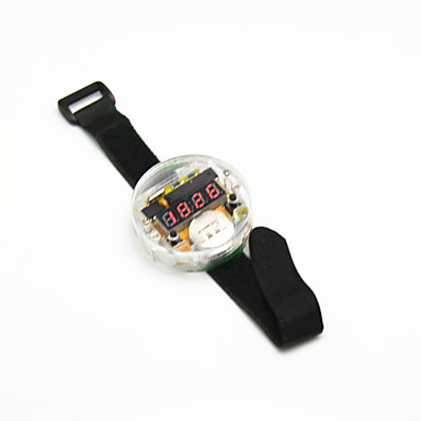 Wholesale DIY 4-digit Seven-Segment Display Digital Watch Kit w/ Velcro Band - Translucent + Black