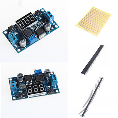 Wholesale LM2596 DC-DC Adjustable Step-Down Module With A Voltage Meter Display and Accessories