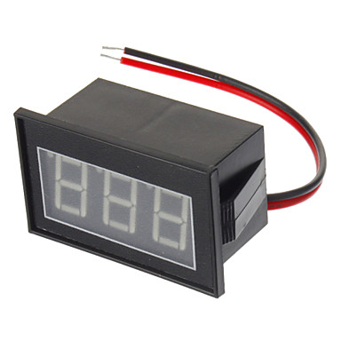 "Wholesale Water Resistant 0.56"" 3-Digit Blue LED Voltmeter - Black (DC 4.5-150V)"