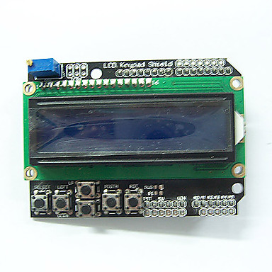 Wholesale 1602 LCD Board Keypad Shield Blue Backlight for Arduino Duemilanove Robot good