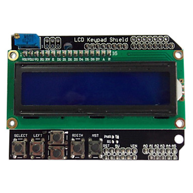 Wholesale LCD1602 character LCD input / output expansion board LCD Keypad Shield for (For Arduino)