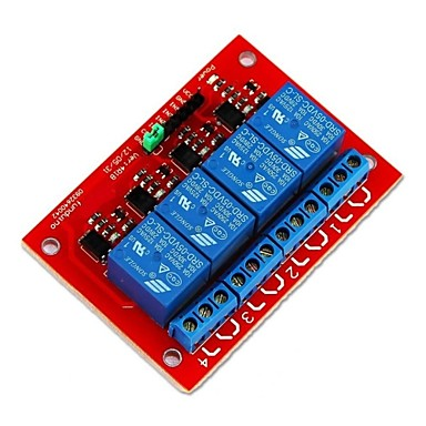 Wholesale 5V 4 Channel Relay Module Shield Expansion board for Arduino PIC ARM DSP AVR