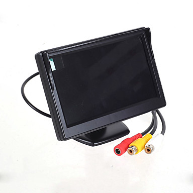 "Wholesale 5.0"" LED Display Screen Car Rear-View Stand Security Monitor - Black (480 x 234 Pixels)"