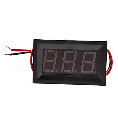 "Wholesale V27D 3-Cable Digital DIY 0.56"" 3-Digit LED Digital Voltmeter (Black, 0~100V)"