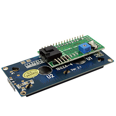 Wholesale IIC / I2C / TWI SPI Serial LCD 1602 Module for Arduino (Works with Official Arduino Boards)
