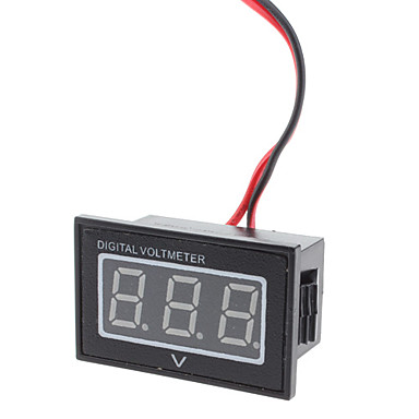 "Wholesale V40D 0.56"" LED Digital Voltmeter Module for Electric Motor / Power Car - Black + White (DC 15~120V)"