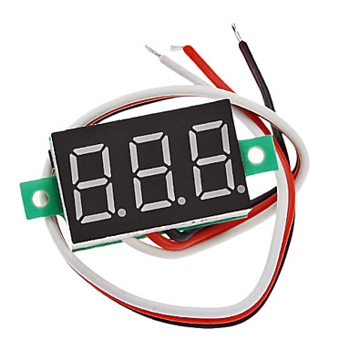 "Wholesale V20D 0.36"" LED 3-Line 3-Digital Direct-Current Voltmeter Meter Module (White + Green, DC 0~100V)"