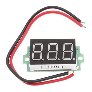 "Wholesale 0.36"" Display 3-Digit 3~30V Voltage Tester for 18650 Battery"