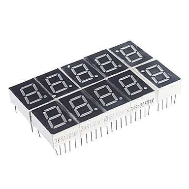 Wholesale 10-Pin 7-Segment Red LED Display Common Cathode (10 PCS)