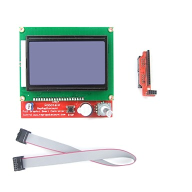 Wholesale LCD 12864 Graphic Smart Display Controller for  Arduino 3D Printer RepRap RAMPS1.4 Mendel Prusa