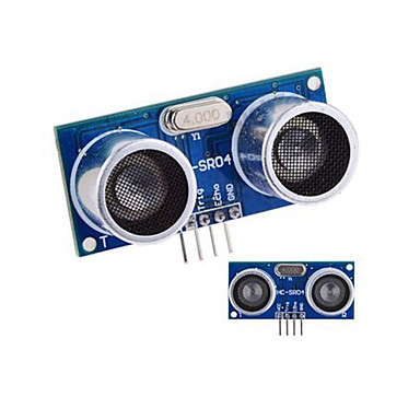 Wholesale Ultrasonic Sensor HC-SR04 Distance Measuring Module - Blue + Silver