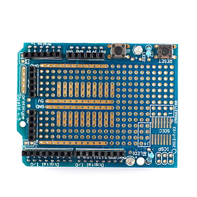 Wholesale (For Arduino) UNO Board, Prototype Shield, Medium Breadboard, Breadboard Jumper Wires and USB Cable Set