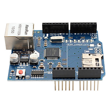 Wholesale (For Arduino) W5100 Ethernet Expension Board (SD Card)