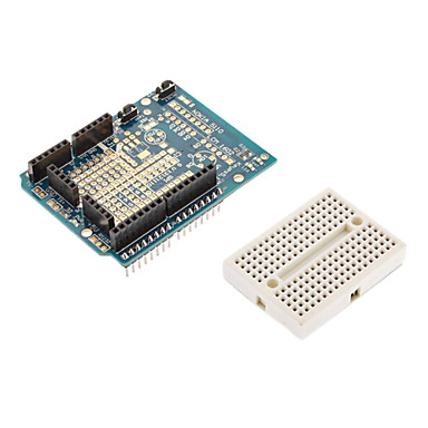 Wholesale 2 in 1 Protoshield Expansion Board + Mini Bread Board Set for (For Arduino) Duemilanove 2009
