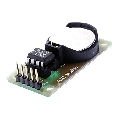 Wholesale DS1302 Real Time Clock Module with CR2032 Button Cell - Black + Green
