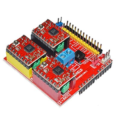 Wholesale V2 3D Printer Driver Expansion Board for Arduino - Red