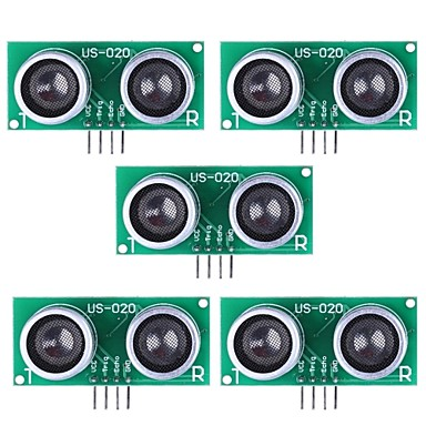 Wholesale Ultrasonic Sensor US-020 Distance Measuring Module - Green (5Packs)