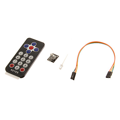 Wholesale KT0014 IR Receiver Module Wireless Remote Control Kit for Arduino (1 x CR2025)