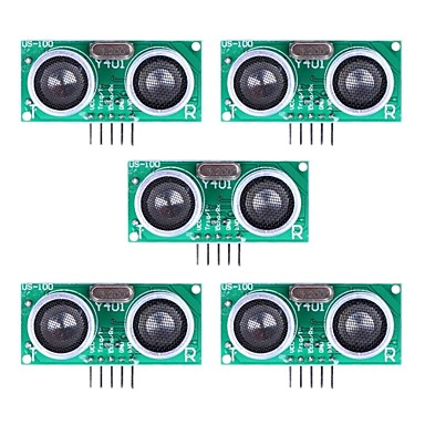 Wholesale Ultrasonic Sensor US-100 Distance Measuring Module with Temperature Compensation - Green (5Packs)