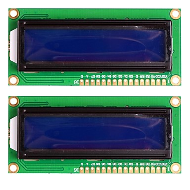 Wholesale Standard 16×2 Character Blue Backlight LCD Display Module - Black + Green (2PCS)