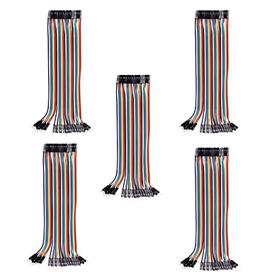 Wholesale 20cm Male to Female DuPont Breadboard Jumper Wires for (For Arduino) (40Pcs/Pack) (5Packs)