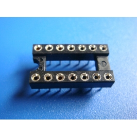 "Wholesale 14 Pin DIP IC Socket 0.1"" Pitch 0.3"" Row Spacing 34pcs/tube"