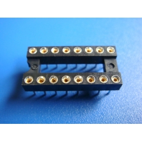 "Wholesale 16 Pin DIP IC Socket 0.1"" Pitch 0.3"" Row Spacing 30pcs/tube"