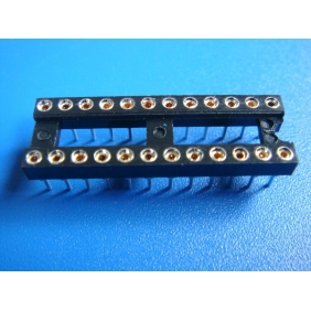 "Wholesale 24 Pin DIP IC Socket 0.1"" Pitch 0.3"" Row Spacing 20pcs/tube"