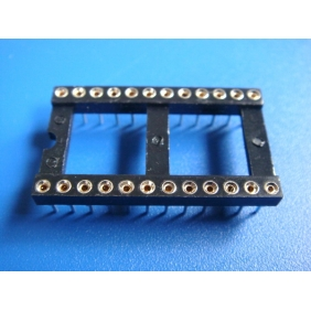 "Wholesale 24 Pin DIP IC Socket 0.1"" Pitch 0.6"" Row Spacing 20pcs/tube"
