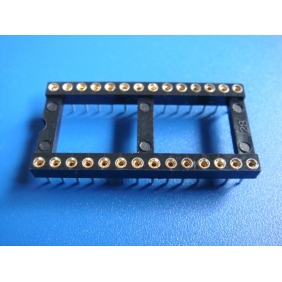 "Wholesale 28 Pin DIP IC Socket 0.1"" Pitch 0.6"" Row Spacing 17pcs/tube"
