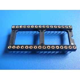 "Wholesale 32 Pin DIP IC Socket 0.1"" Pitch 0.3"" Row Spacing 15pcs/tube"