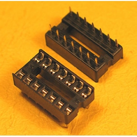 "Wholesale 14 Pin IC Socket Dual Wipe Type 0.1"" Pitch 0.3"" Row 34pcs/tube"