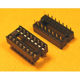 "Wholesale 16 Pin IC Socket Dual Wipe Type  0.1"" Pitch 0.3"" Row 30pcs/tube"