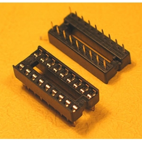 "Wholesale 18 Pin IC Socket Dual Wipe Type 0.1"" Pitch 0.3"" Row 26pcs/tube"