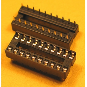 "Wholesale 20 Pin IC Socket Dual Wipe Type 0.1"" Pitch 0.3"" Row 23pcs/tube"