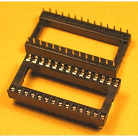 "Wholesale 28 Pin IC Socket Dual Wipe Type 0.1"" Pitch 0.6"" Row 17pcs/tube"