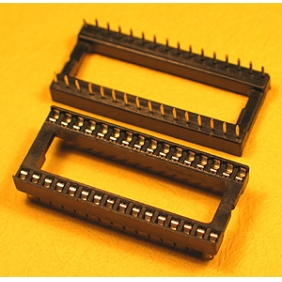 "Wholesale 32 Pin IC Socket Dual Wipe Type 0.1"" Pitch 0.3"" Row 15pcs/tube"