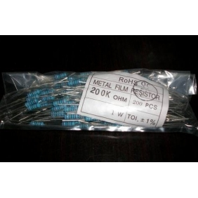Wholesale 1W metal film resistor 1% 200 pcs for each value,all series(not mixed)