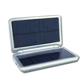 Wholesale Solar Charger with 2000MAH Li Battery Torch and Two USB Ports