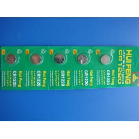Wholesale 5pcs/panel Sealed CR1220 CR 1220 LITHIUM COIN BATTERY