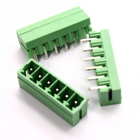 Wholesale 50pcs Male 6 pin 3.81mm Terminal Block Right Angle PCB Mount