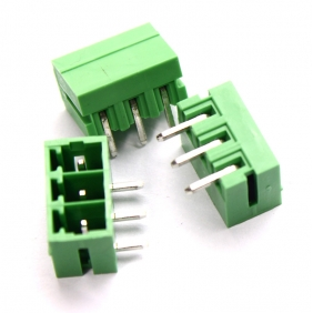Wholesale 50pcs Male 3 pin 3.81mm Terminal Block, Right Angle PCB Mount