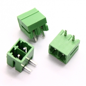 Wholesale 50pcs Male 2 pin 3.81mm Terminal Block Right Angle PCB Mount